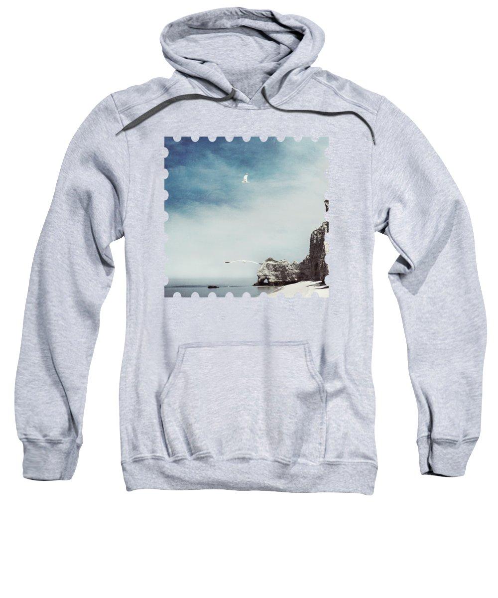 Beach Sweatshirt featuring the photograph Falaise D'amont - Etretat - France by Dirk Wuestenhagen