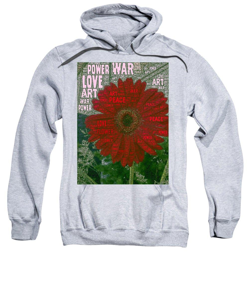 Mark J Dunn Sweatshirt featuring the photograph Flower Power by Mark J Dunn