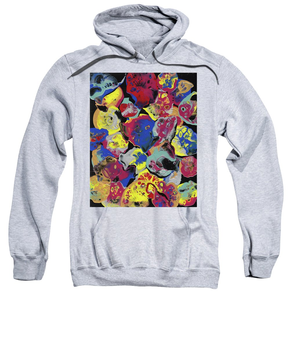 Abstract Art Sweatshirt featuring the painting Hammer Flowers by Crazy Gemini Art