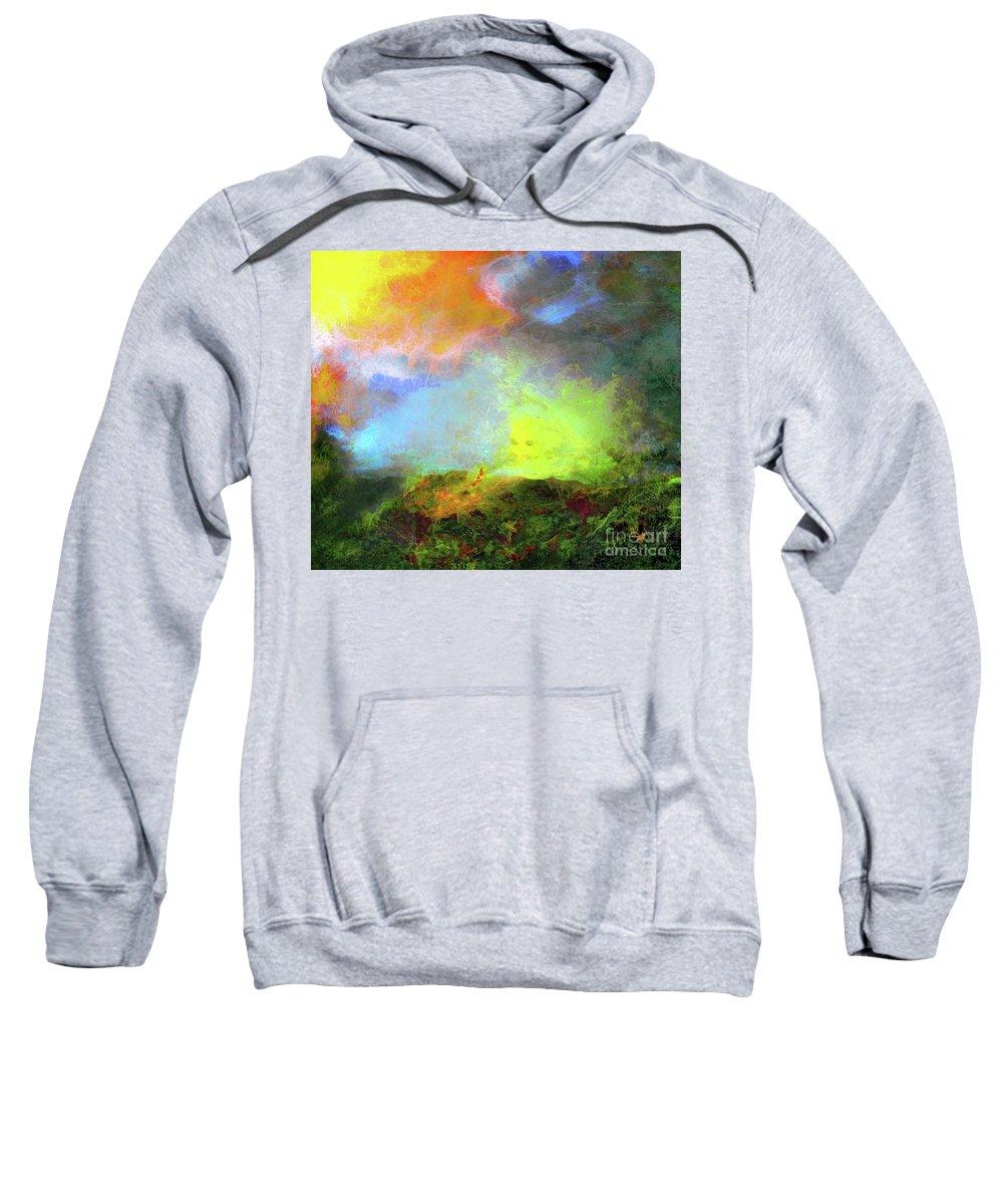 Abstract Sweatshirt featuring the digital art Imaginarium 573 by Andrea Yevtushenko