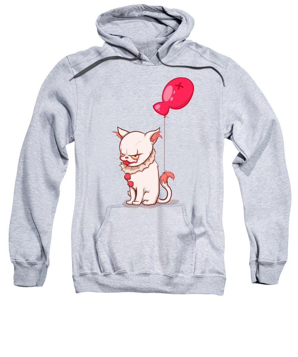 It Sweatshirt featuring the drawing Kittywise by Ludwig Van Bacon