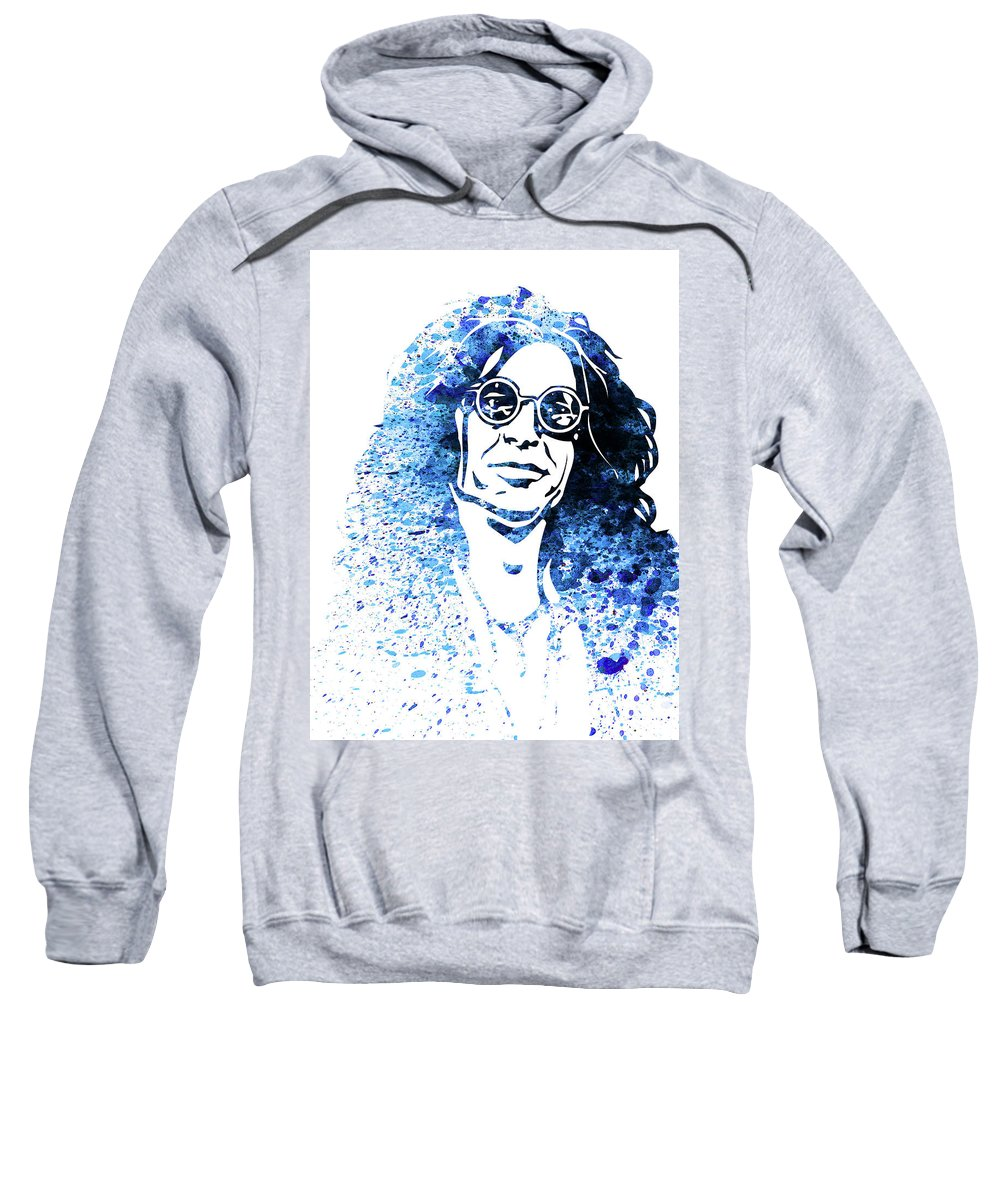 Howard Stern Sweatshirt featuring the mixed media Legendary Howard Stern Watercolor by Naxart Studio