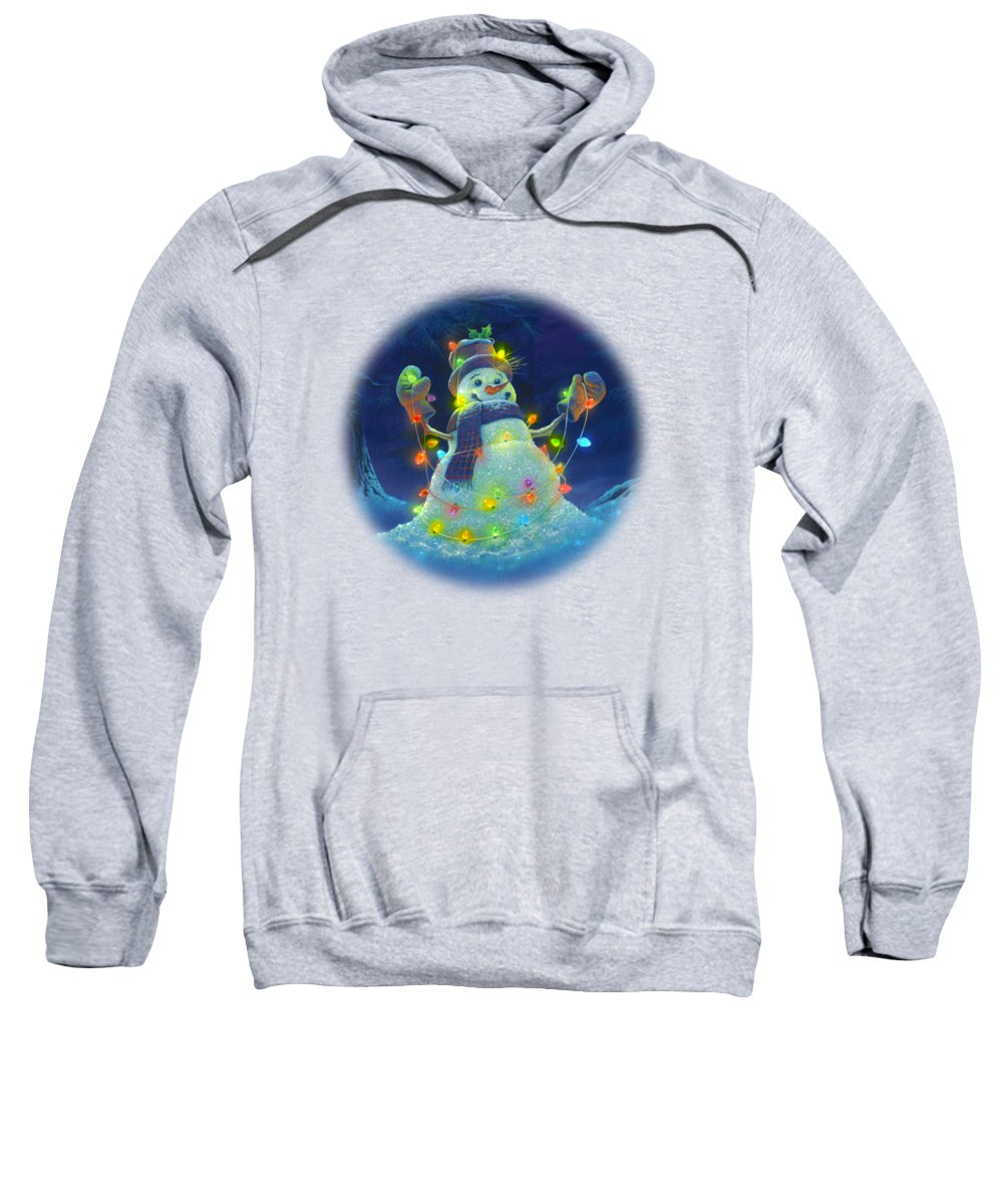 Michael Humphries Sweatshirt featuring the painting Let It Glow by Michael Humphries