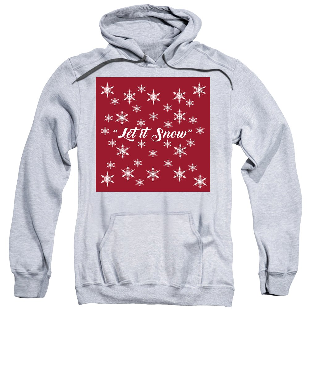 Pavi Sweatshirt featuring the mixed media Let It Snow by Cheri Dawson