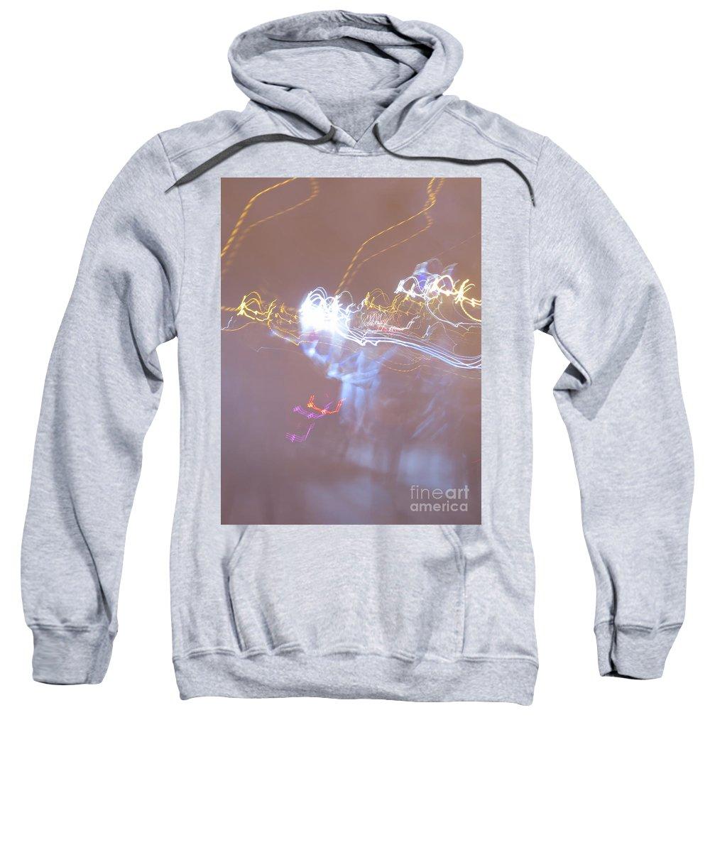 Light Sweatshirt featuring the photograph Light Night by Adil Boulouiha