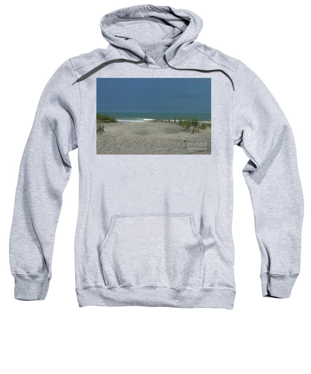 Dramatic Sky Sweatshirt featuring the photograph Litchfield By The Sea by Christiane Schulze Art And Photography