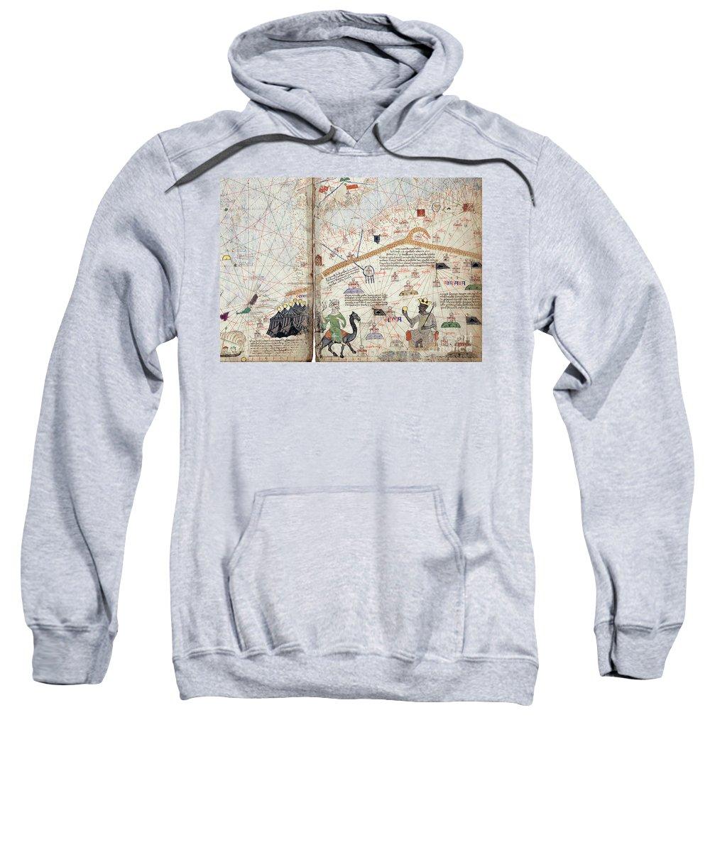 14th Century Sweatshirt featuring the drawing Mansa Musa by Granger