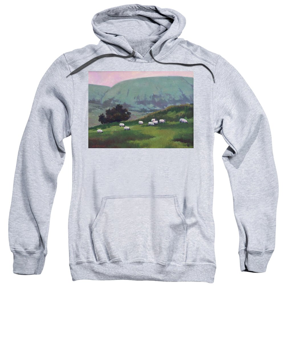 Ireland Sweatshirt featuring the painting Maum Cross by Dianne Panarelli Miller