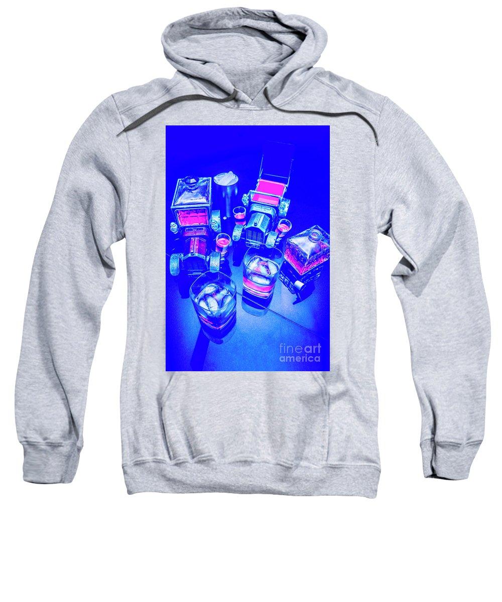 Retro Sweatshirt featuring the photograph Neon Bar by Jorgo Photography - Wall Art Gallery