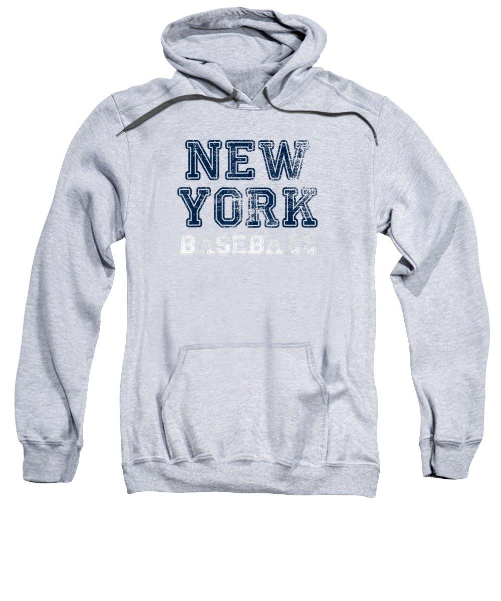 girls' Novelty Clothing Sweatshirt featuring the digital art New York Distressed Pro Baseball Team Championship Tshirt by Do David