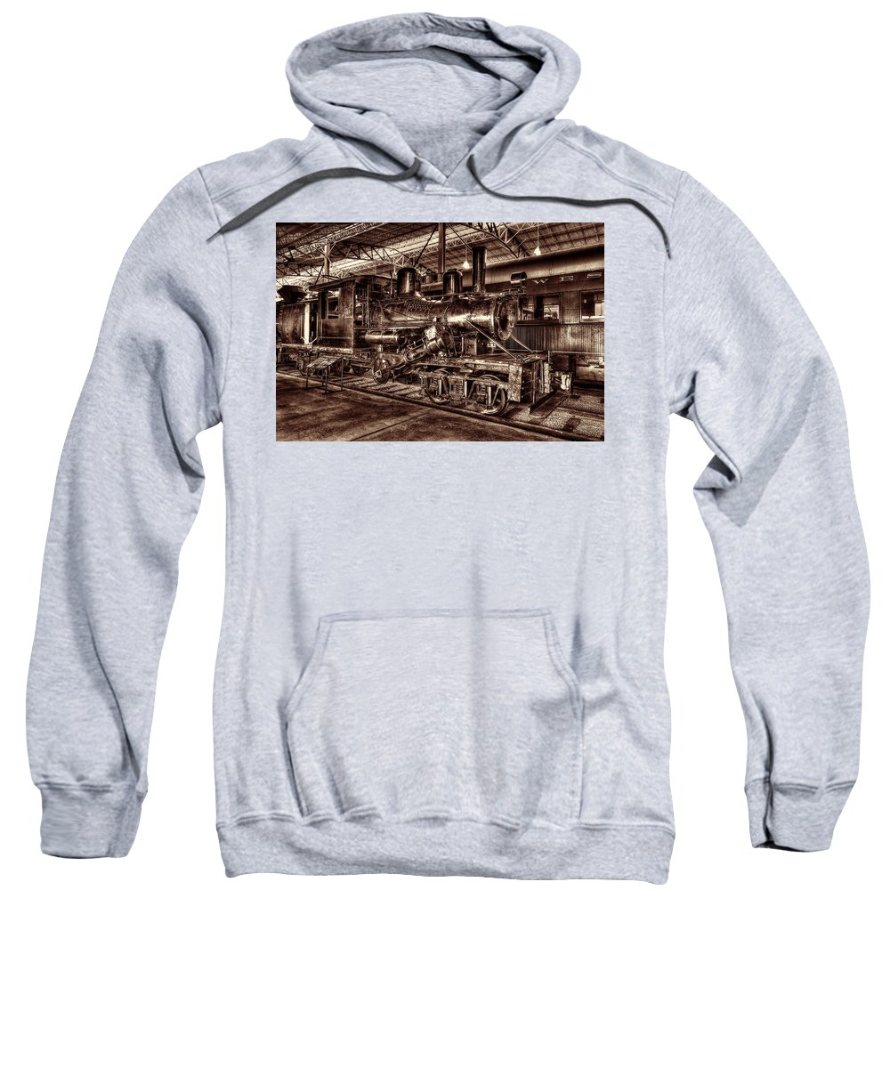 Climax Steam Engine Sweatshirt featuring the photograph Old Climax Engine No 4 by Paul W Faust - Impressions of Light