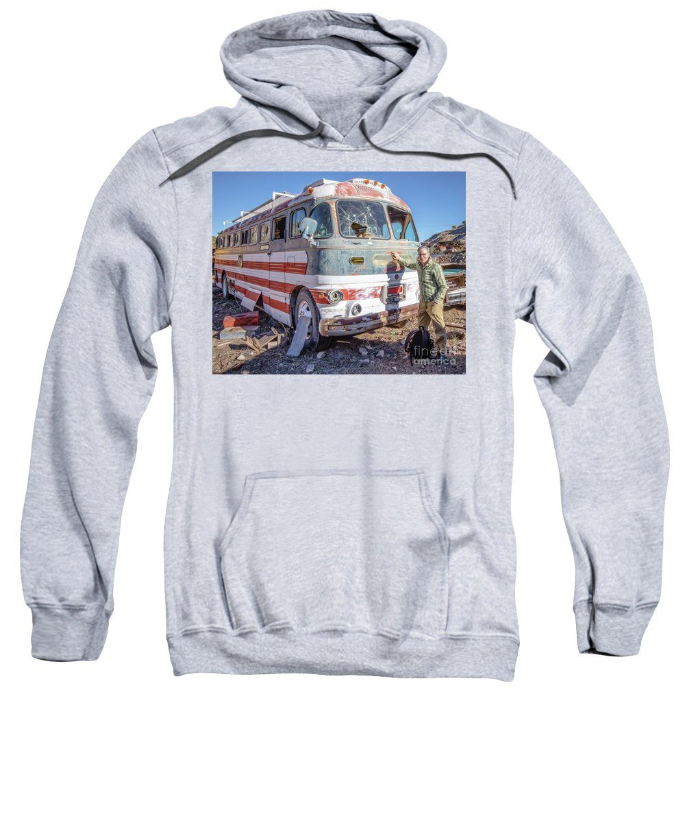 Photographer Sweatshirt featuring the photograph On Location Photographer Edward Fielding In Jerome Arizona by Wendy Fielding