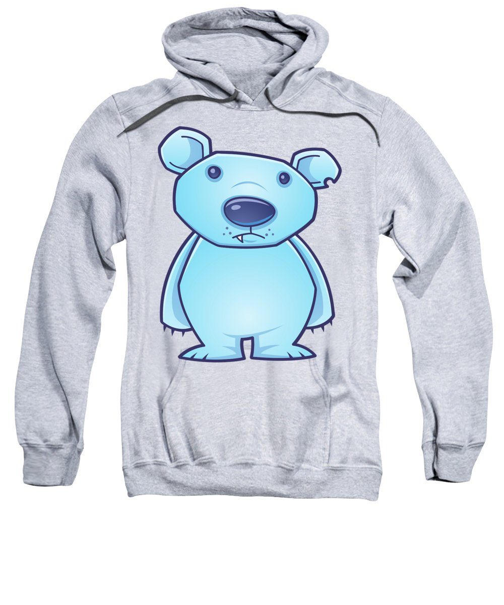 Cold Sweatshirt featuring the digital art Polar Bear Cub by John Schwegel
