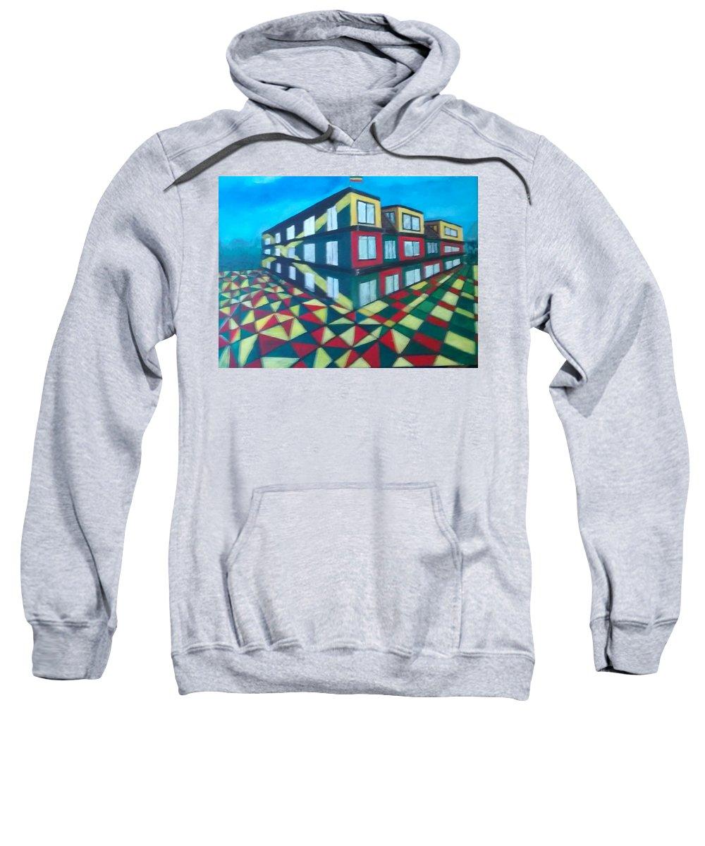 Rasta Art Sweatshirt featuring the painting Rasta Academy by Andrew Johnson
