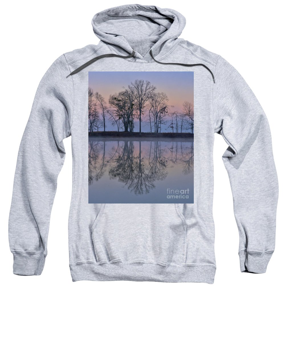 Alabama Sweatshirt featuring the photograph Reflections On The Lake by Ken Johnson