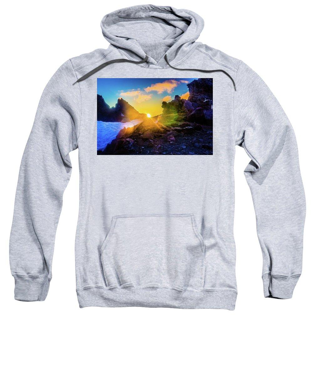 Adventure Sweatshirt featuring the photograph Rising Sun by Mirek Kohout