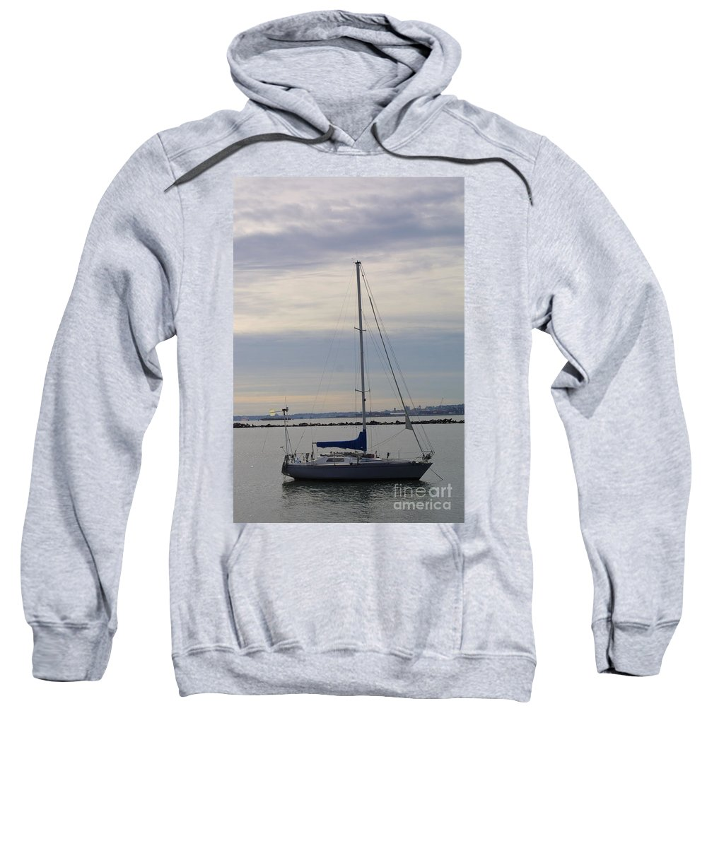 Sailboat Sweatshirt featuring the photograph Sailboat In The Bay Area by Darren Dwayne Frazier