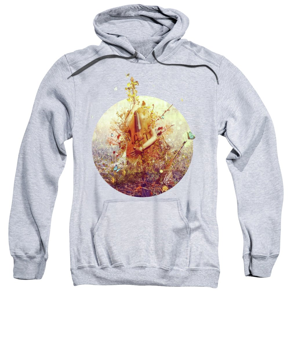 Surreal Sweatshirt featuring the digital art Silence by Mario Sanchez Nevado