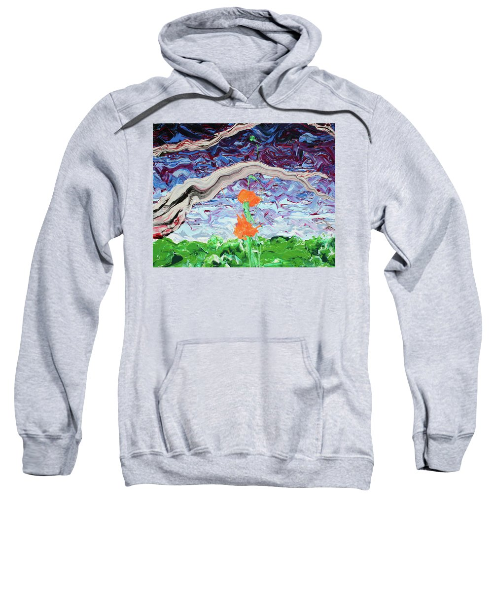 Summer Sweatshirt featuring the painting Something Pretentious About Duality by Ric Bascobert