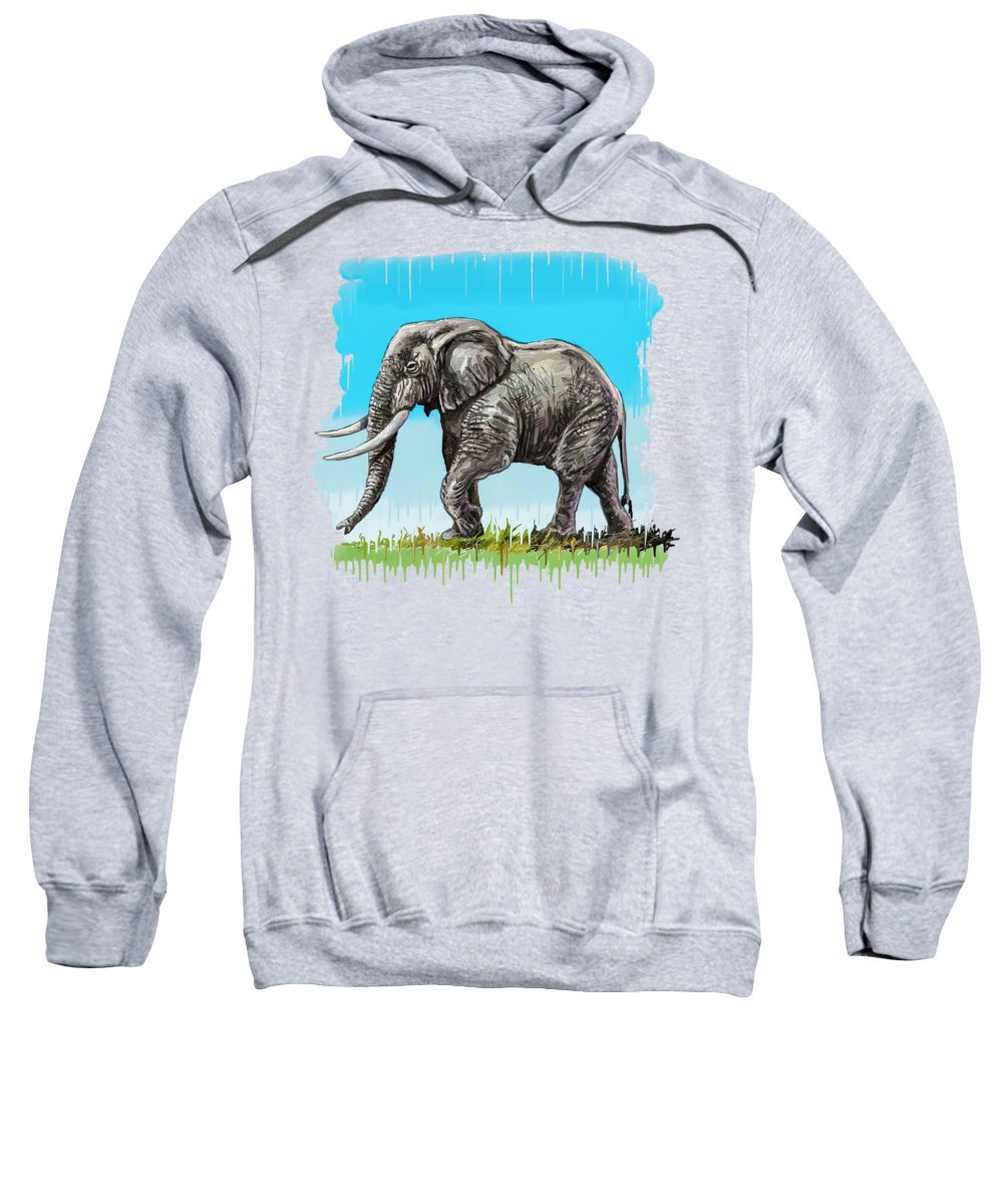 Fine Art Sweatshirt featuring the painting Son Of Africa by Anthony Mwangi