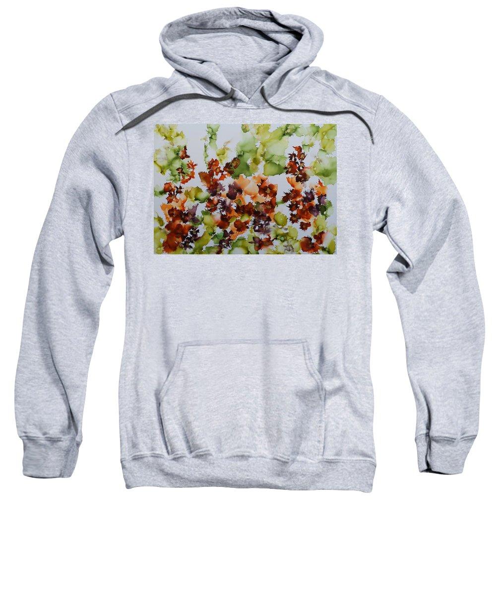 Floral Sweatshirt featuring the painting Spring Time by Sumali Piyatissa