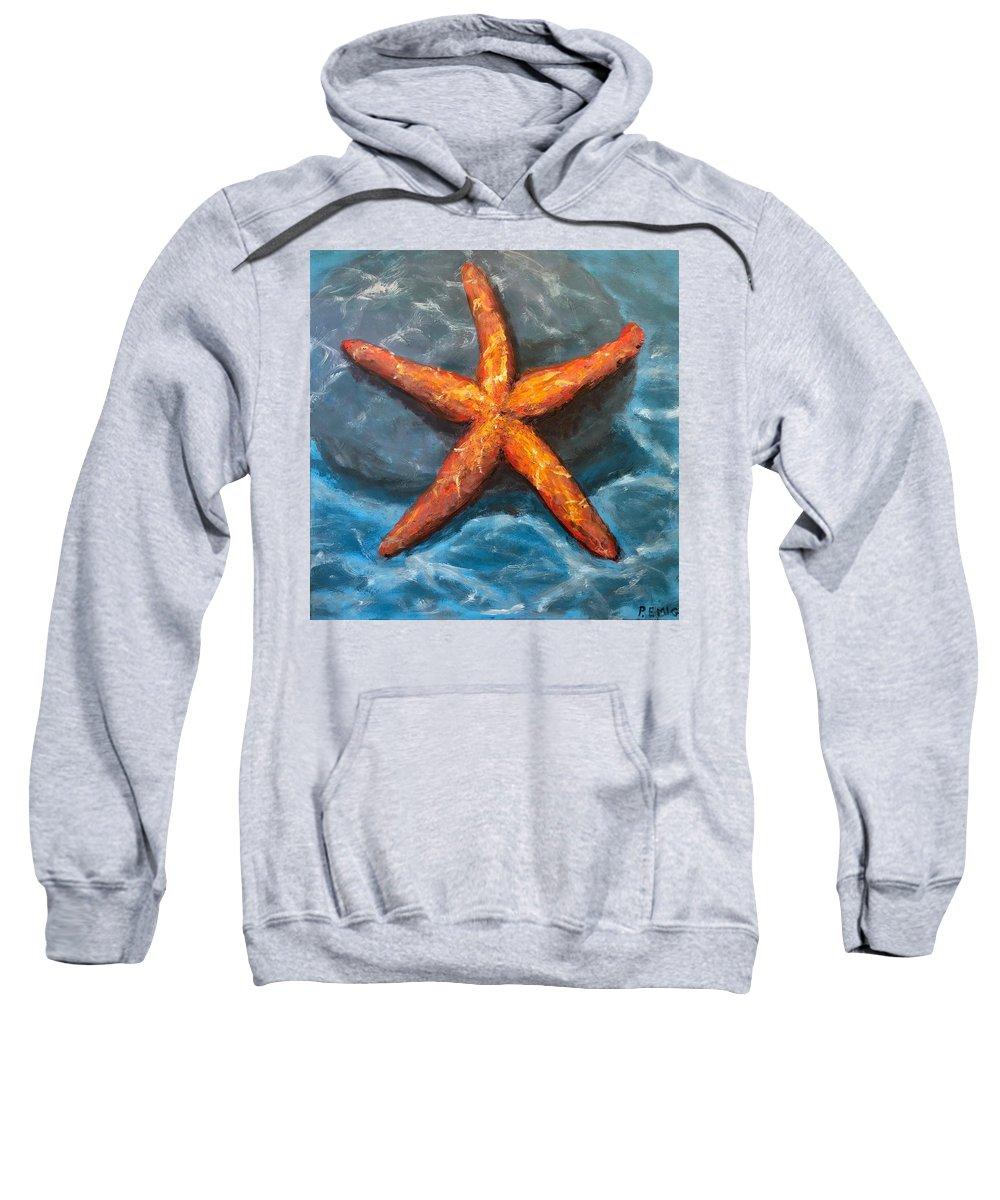 Starfish Sweatshirt featuring the painting Starfish by Paul Emig
