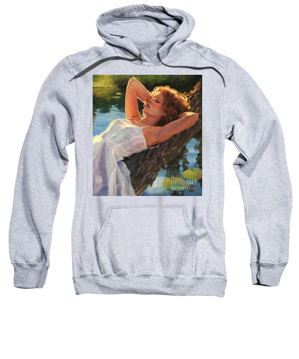 Water Sweatshirt featuring the painting Summer Idyll by Jean Hildebrant