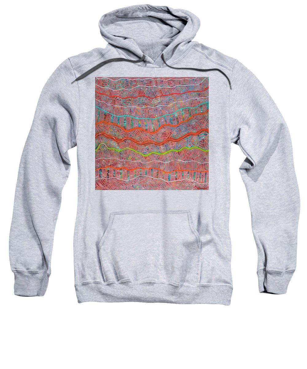 Abstract Sweatshirt featuring the painting Sunrise by Clifford Madsen