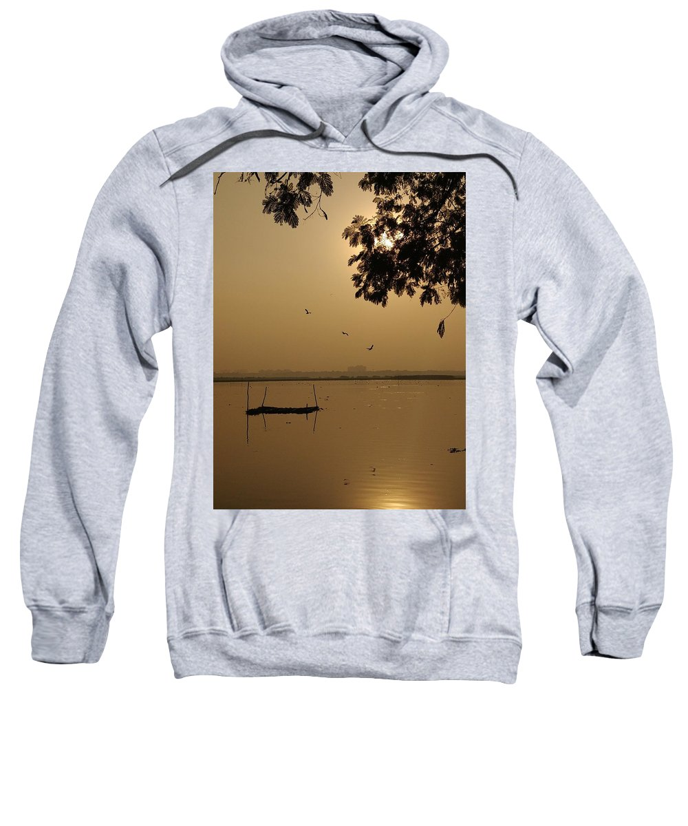 Sunset Sweatshirt featuring the photograph Sunset by Priya Hazra