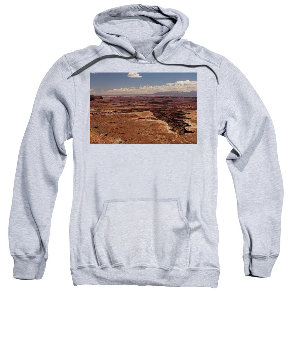 Canyonlands National Park Sweatshirt featuring the photograph The Canyon Floor Below - 1 by Hany J