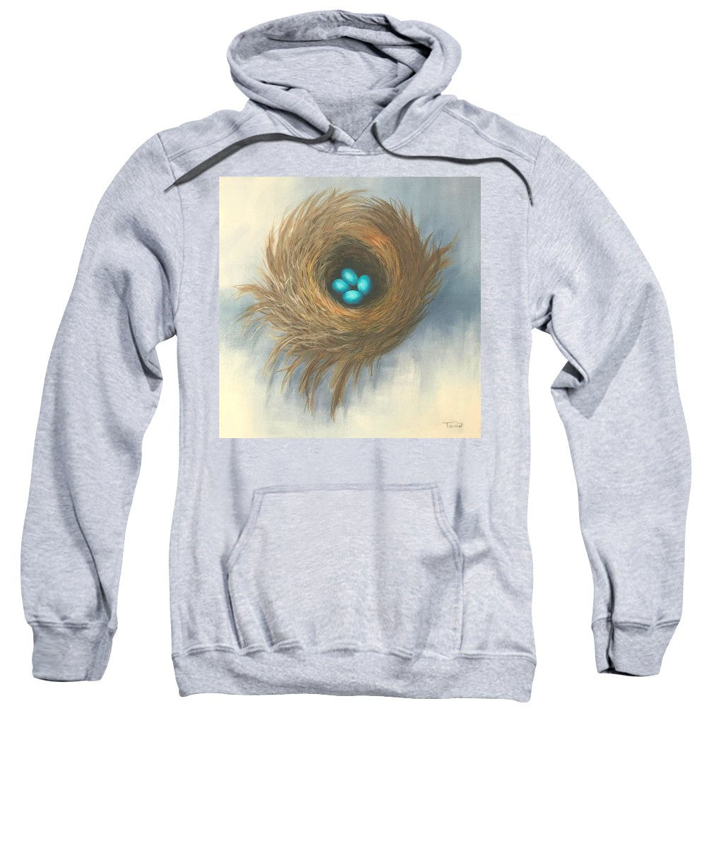 Bird Sweatshirt featuring the painting The Four Sisters by Torrie Smiley