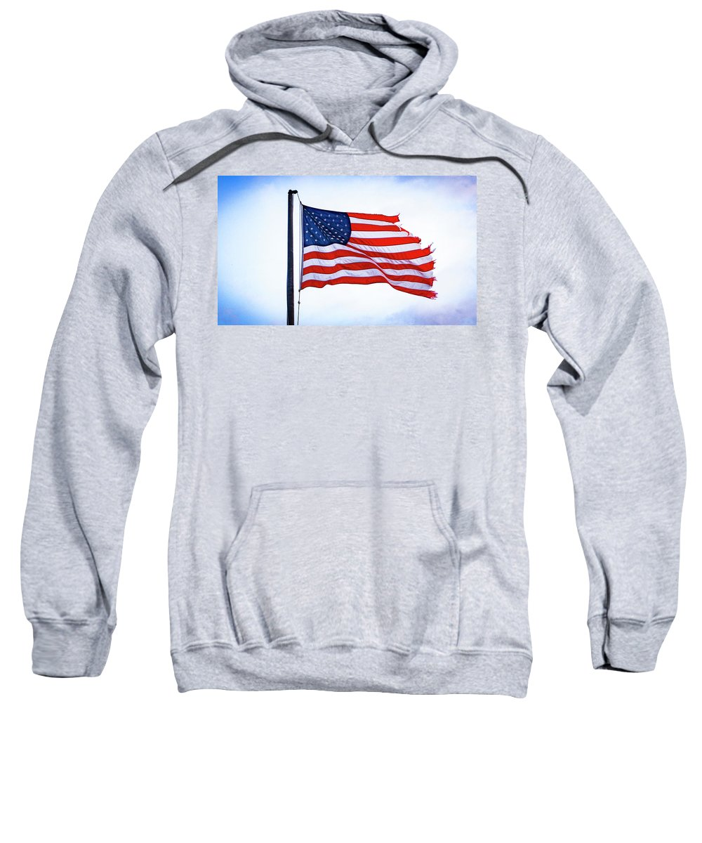 Flag Sweatshirt featuring the photograph U.s. Flag 5 by Tom Kostro