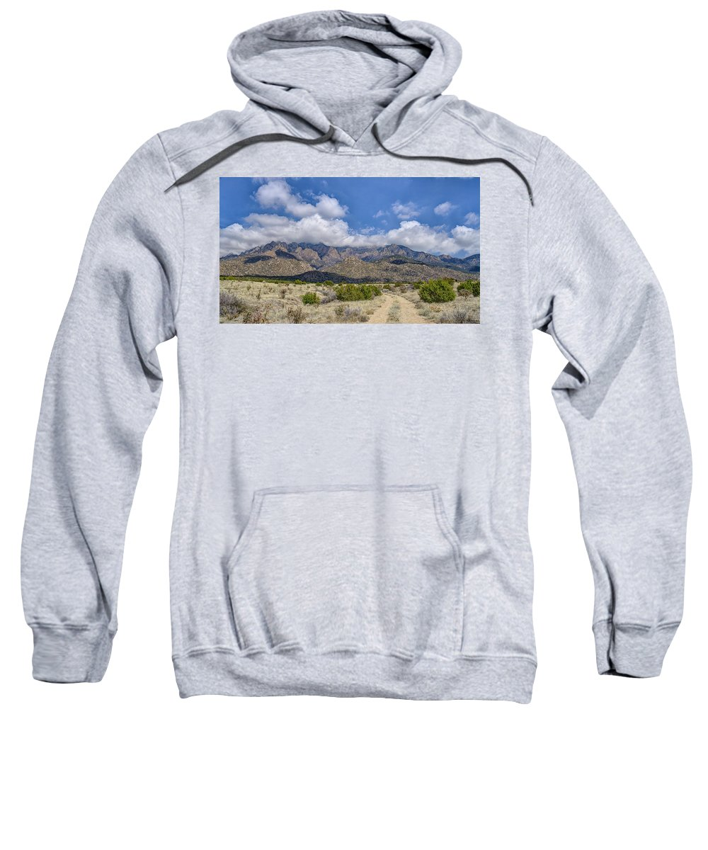 Southwest Usa Sweatshirt featuring the photograph View Of Sandia Mountain by Alan Toepfer