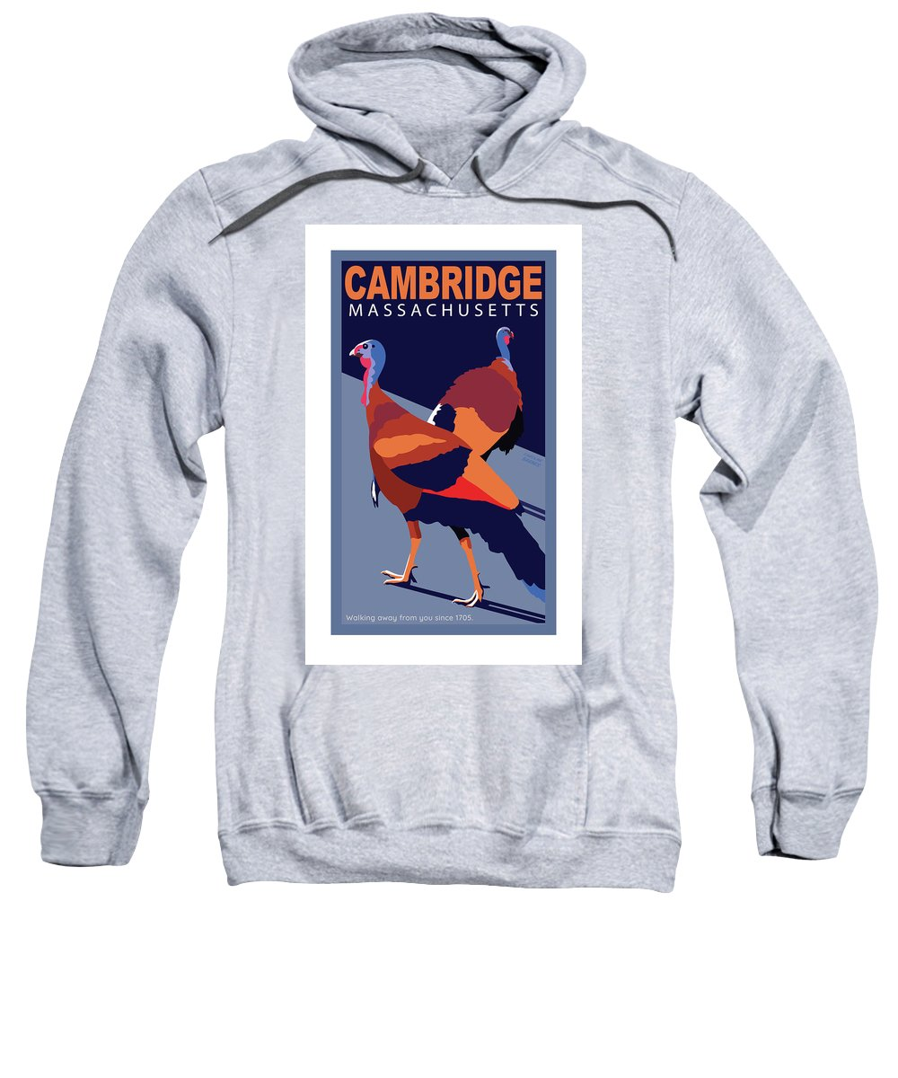 Brookline Turkeys Sweatshirt featuring the digital art Walking Away From You-cambridge by Caroline Barnes
