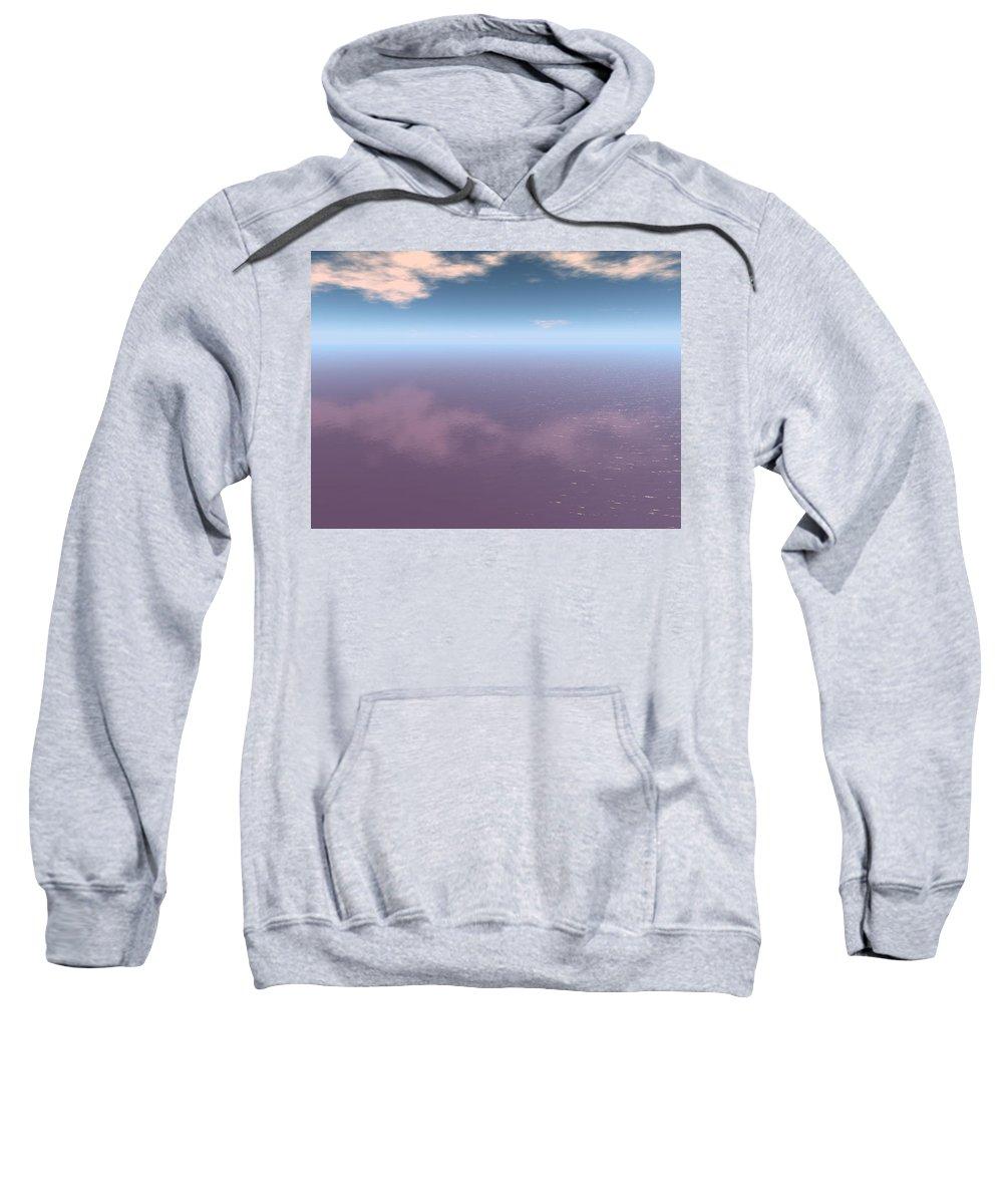 Wall Art Sky Sweatshirt featuring the digital art Wall Art Sky Ocean by Darif Mohamed