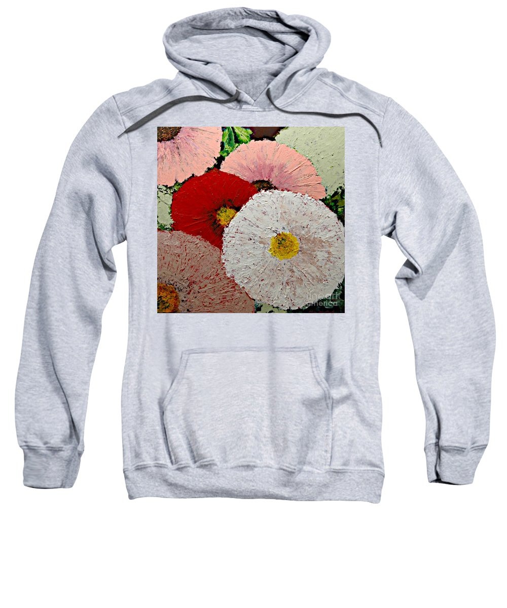 Landscape Sweatshirt featuring the painting From the Garden by Allan P Friedlander
