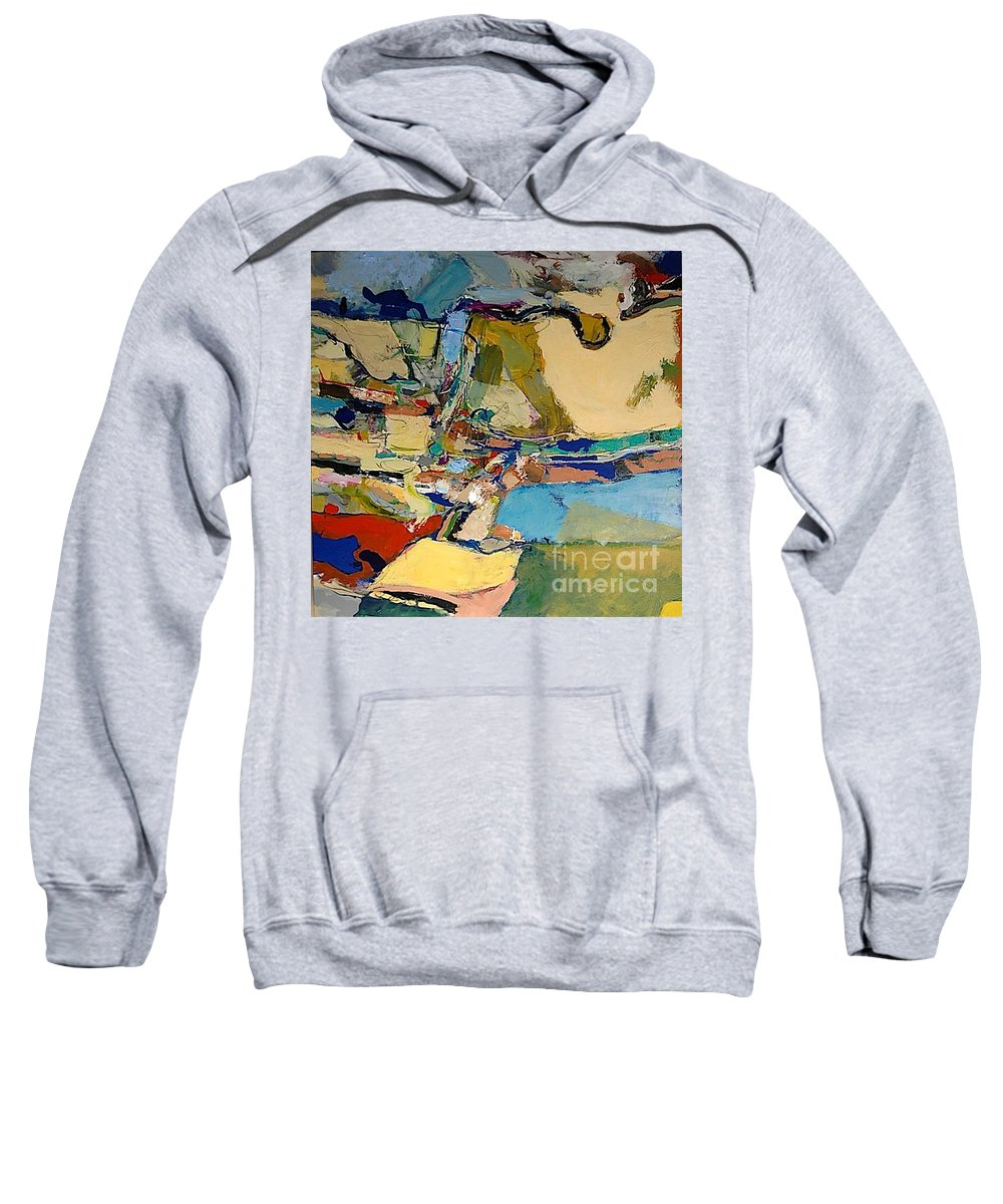 Landscape Sweatshirt featuring the painting Pastime Drive by Allan P Friedlander