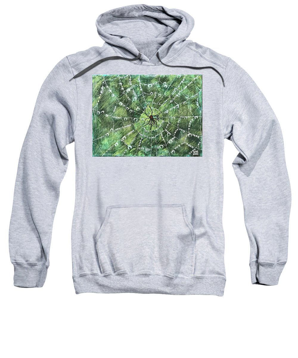 Spider Sweatshirt featuring the painting After The Storm by Kathy Marrs Chandler