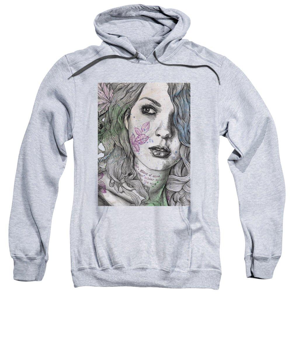 Graffiti Sweatshirt featuring the drawing Wake by Marco Paludet