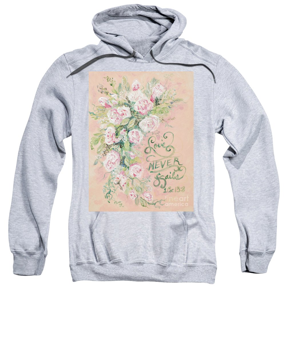 Beloved Sweatshirt featuring the painting Beloved by Nadine Rippelmeyer