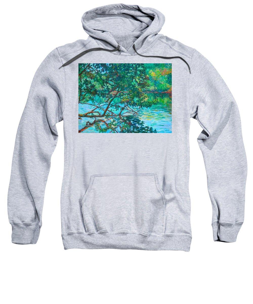 Landscape Sweatshirt featuring the painting Bisset Park by Kendall Kessler