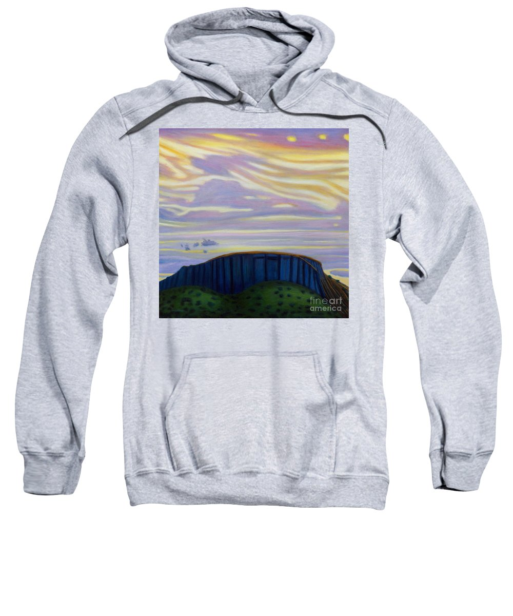 Black Mesa Sweatshirt featuring the painting Black Mesa by Brian Commerford