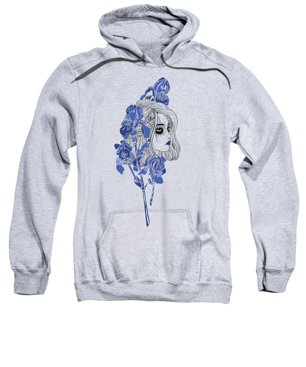 Digital Art Sweatshirt featuring the digital art China girl by Elly Provolo