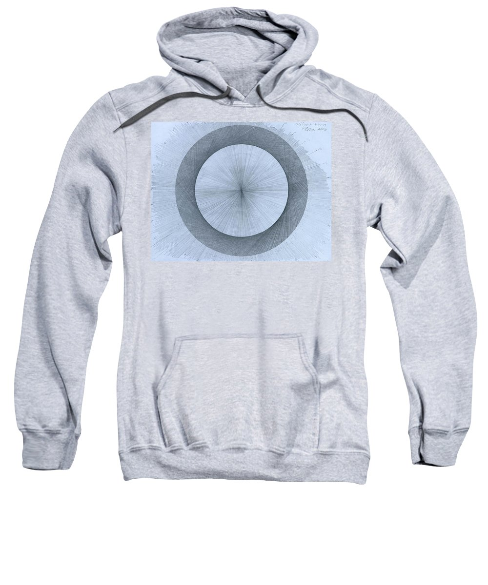 Perfect Sweatshirt featuring the drawing Circles do not exist by Jason Padgett