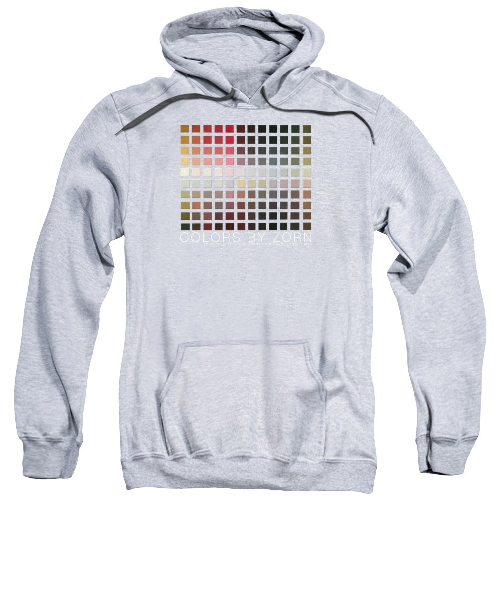 Zorn Color Palette Sweatshirt featuring the painting Colors By Zorn by Michael Lynn Adams