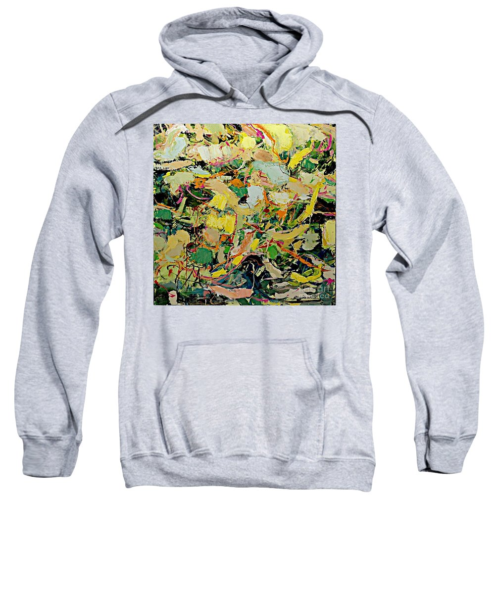 Landscape Sweatshirt featuring the painting Cotton Blossom by Allan P Friedlander