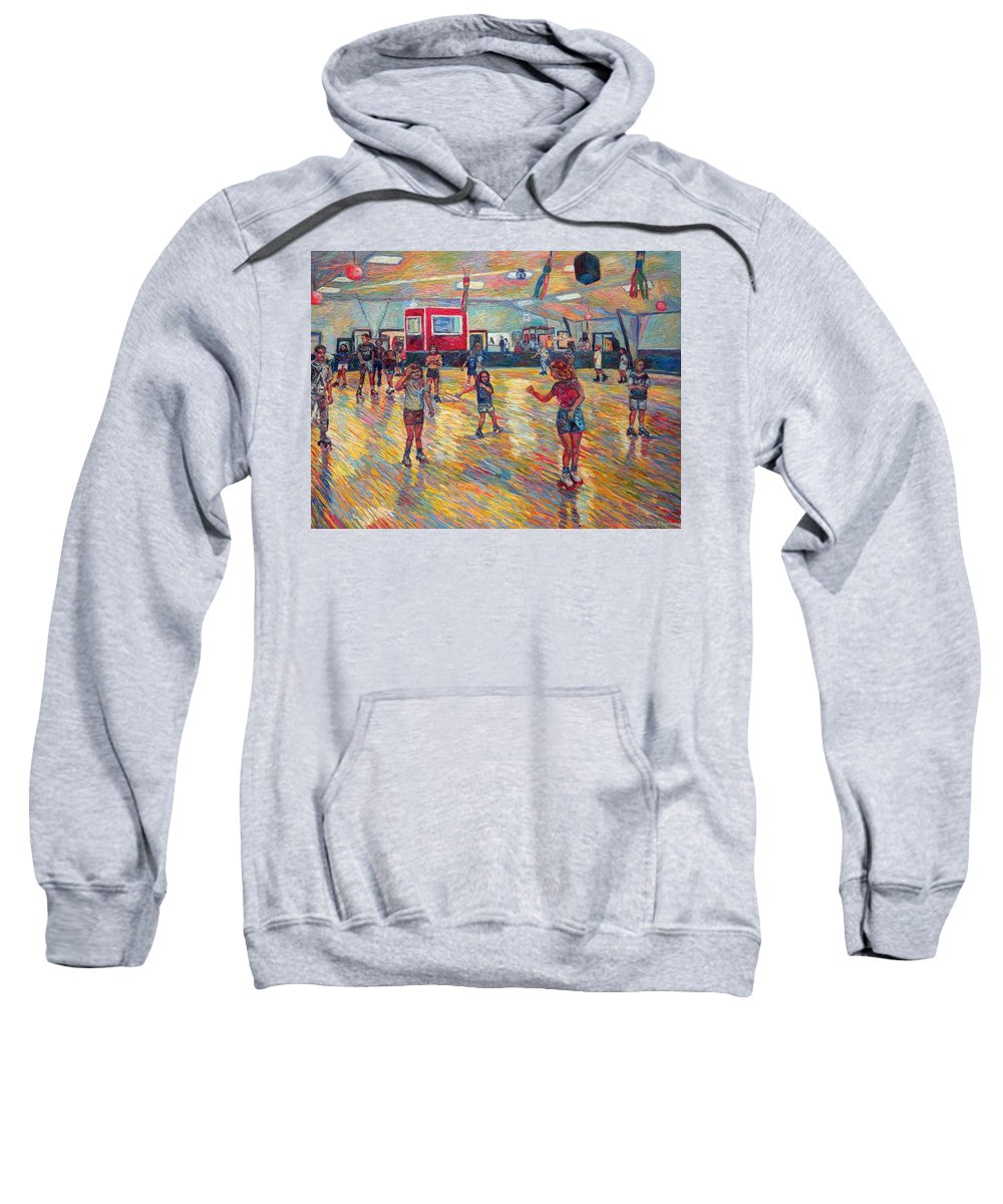 Figure Sweatshirt featuring the painting Dominion Skating Rink by Kendall Kessler