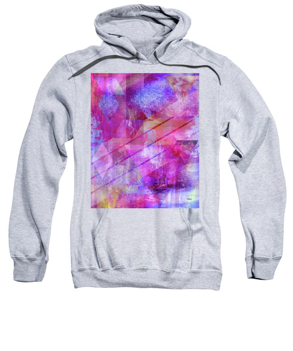 Dragon's Kiss Sweatshirt featuring the digital art Dragon's Kiss by John Robert Beck