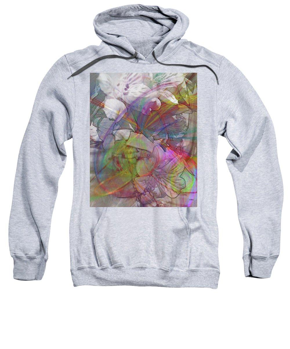 Floral Fantasy Sweatshirt featuring the digital art Floral Fantasy by John Robert Beck