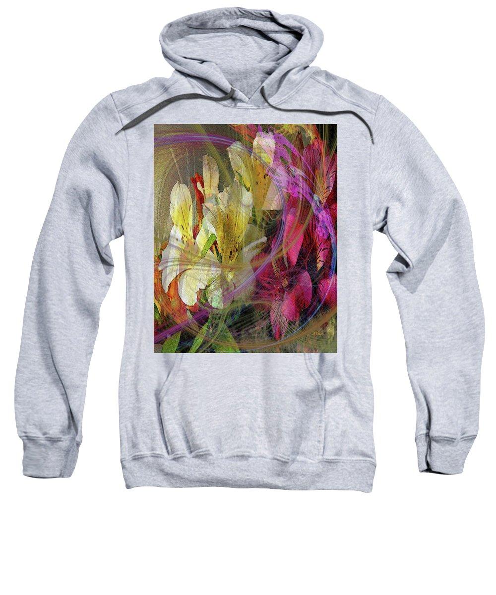 Floral Inspiration Sweatshirt featuring the digital art Floral Inspiration by John Robert Beck